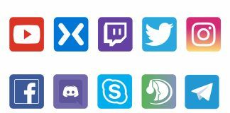 networking social media icons