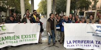Acto en defensa de las barriadas de la periferia.