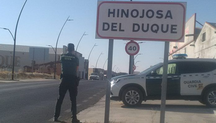 Agente de la Guardia Civil en Hinojosa.