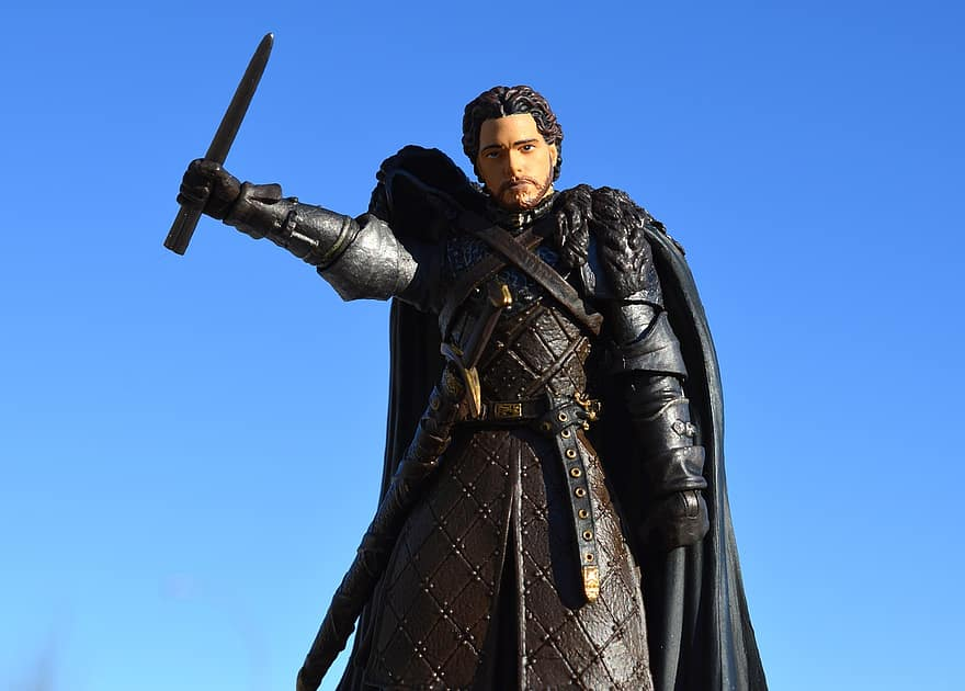 games of thrones action figure hbo robb stark television tv medieval character male