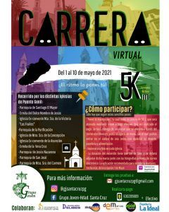 cartel carrera virtual grupo joven santa cruz
